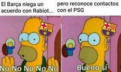 Enlace a Cuando le preguntas al Barça si está interesado en Rabiot