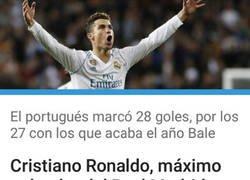 Enlace a Cristiano consigue ser el máximo goleador del Madrid en 2018