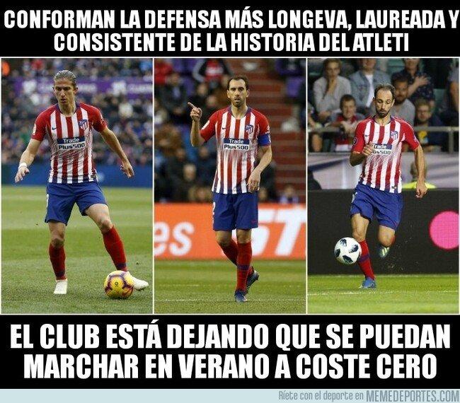 1060428 - El muro defensivo del Atlético ya puede negociar con otros clubes
