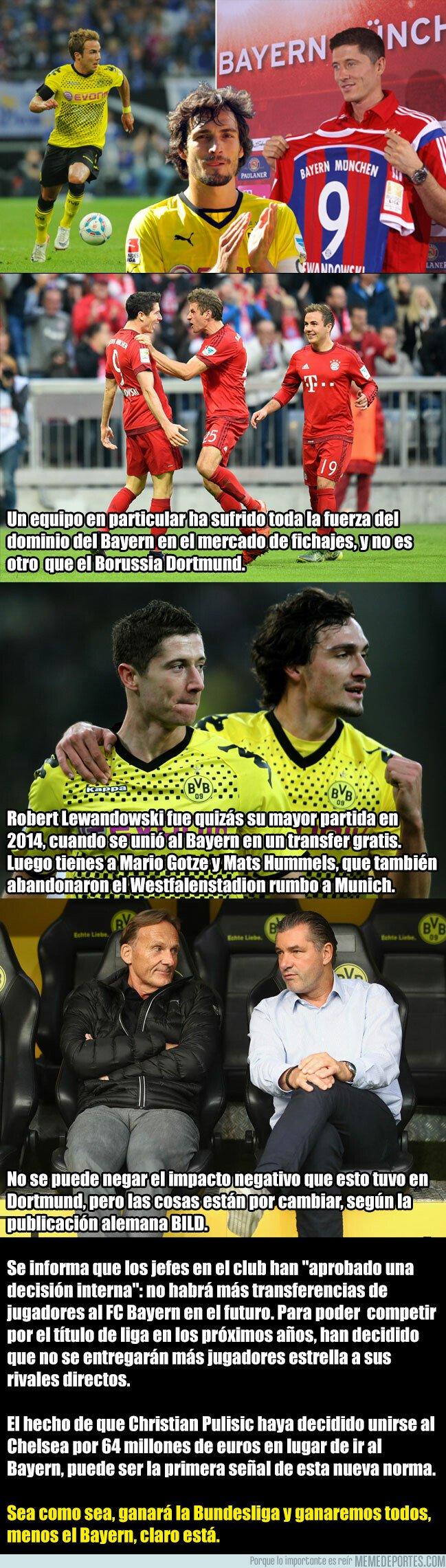 1061701 - El Bayern Munich ya no podrá fichar a ningún jugador del Borussia Dortmund