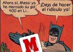 Enlace a Marca sale ahora a anunciar los 400 goles ligueros de Messi