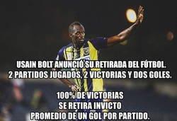 Enlace a Usain Bolt termina su carrera como futbolista