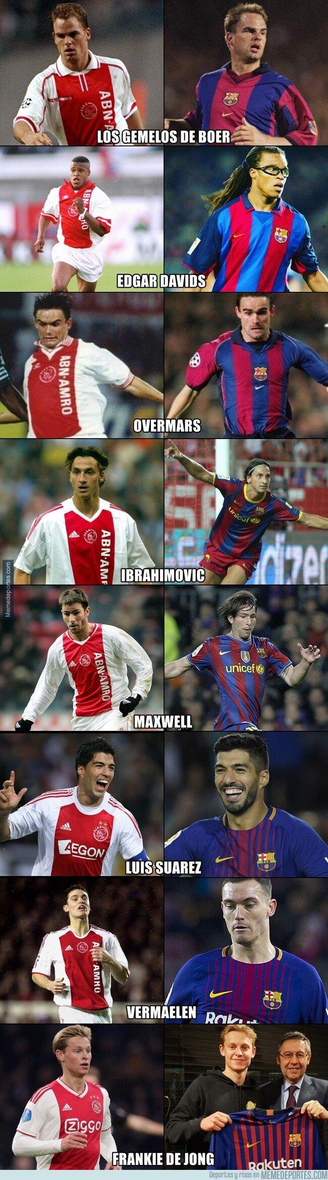 1062445 - Los últimos 8 futbolistas que jugaron en el Ajax y luego pasaron al Barcelona