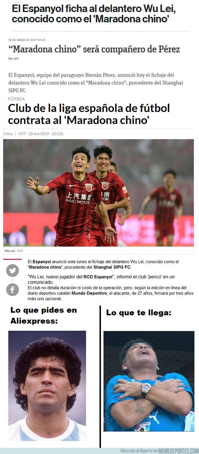 1062811 - Cuando un equipo chino ficha a un Maradona CHINO...