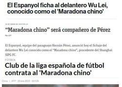 Enlace a Cuando un equipo chino ficha a un Maradona CHINO...