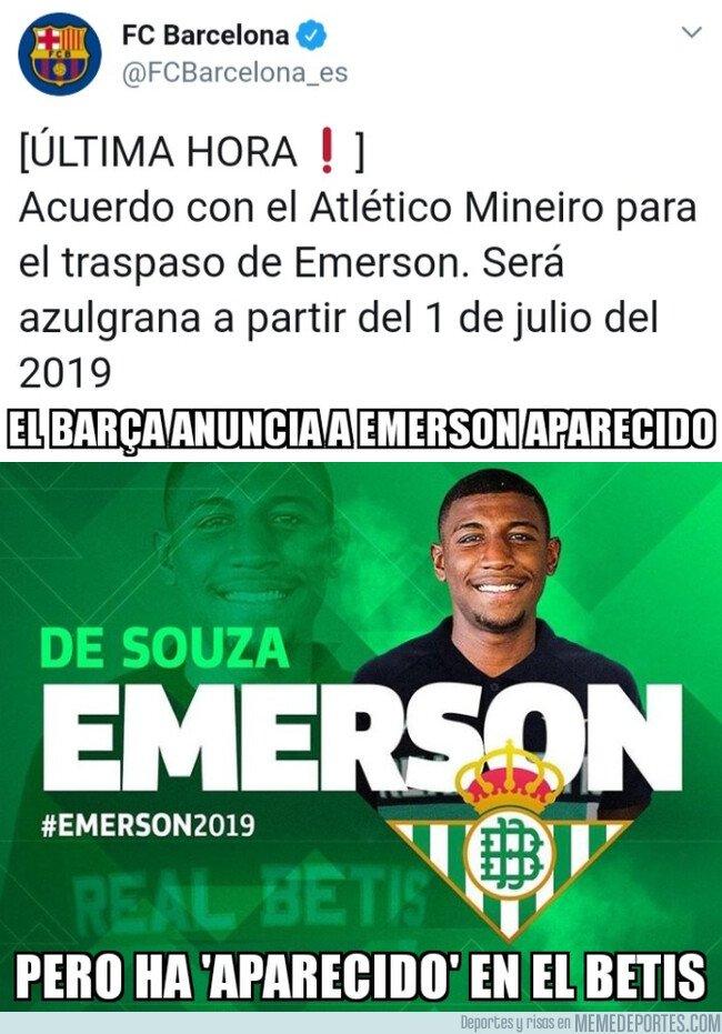 1063188 - Betis y Barça fichan a Emerson Aparecido