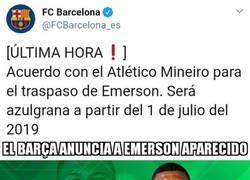 Enlace a Betis y Barça fichan a Emerson Aparecido