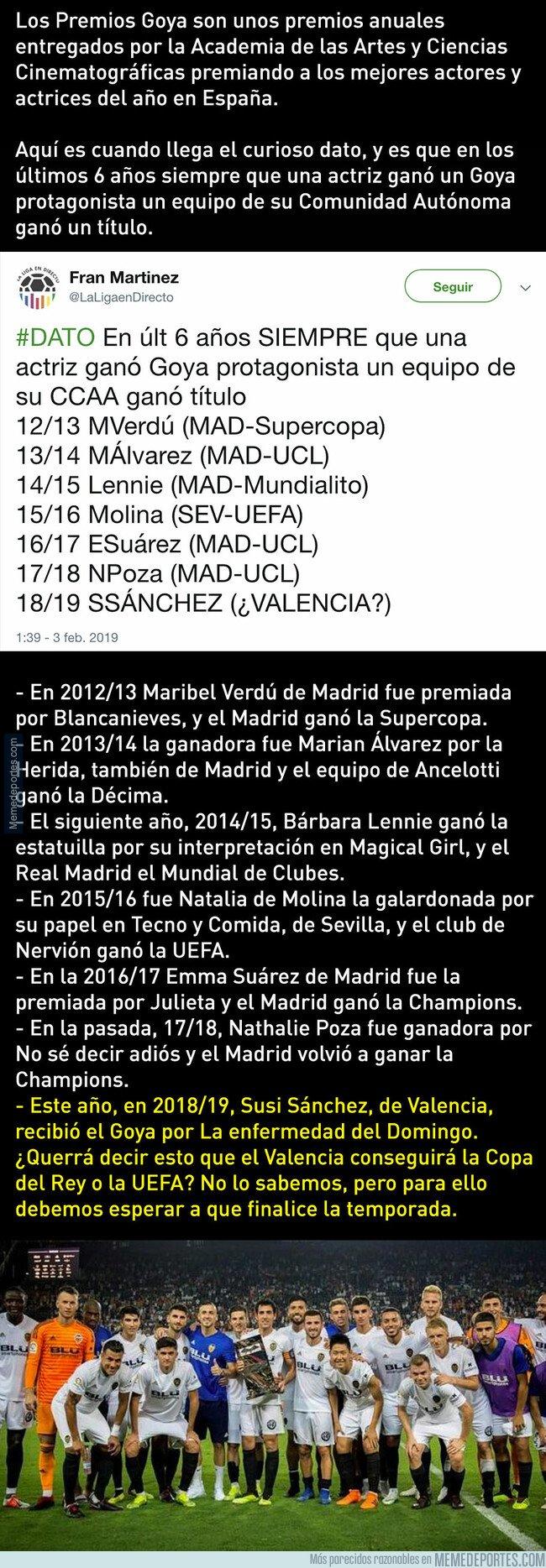 1063450 - Cuidado, según esta profecía de los Goya, el Valencia ganará la Copa del Rey o la Europa League