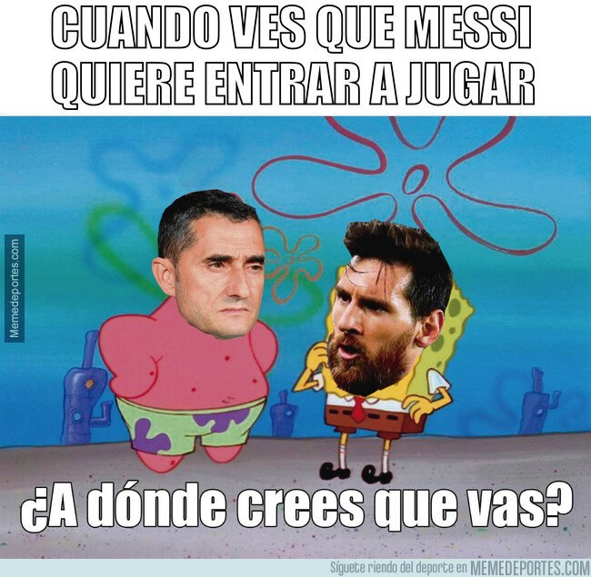 1063652 - Valverde tardó en hacer entrar a Messi