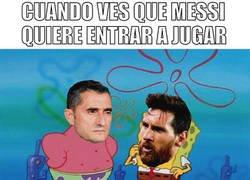 Enlace a Valverde tardó en hacer entrar a Messi