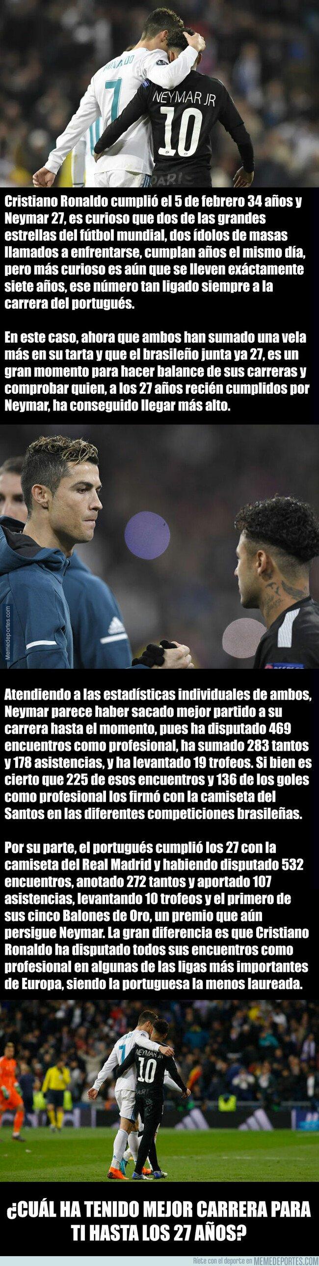 1063723 - La comparativa entre Cristiano Ronaldo y Neymar a los 27 años