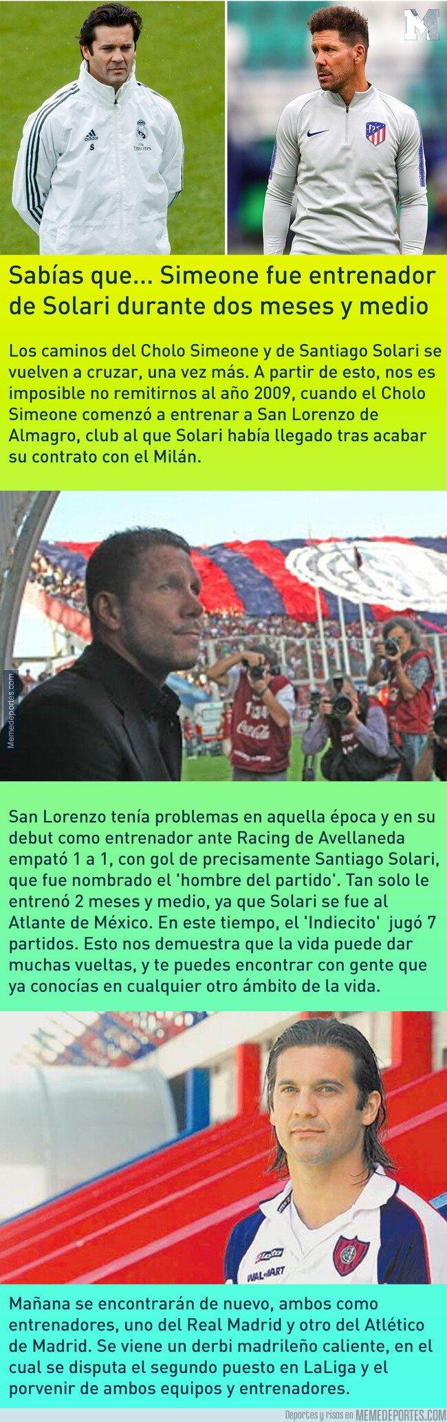 1063810 - Sabías que... Simeone fue entrenador de Solari durante dos meses y medio