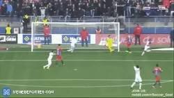 Enlace a Ha caído de pie en el Mónaco: el acrobático gol de Gelson Martins