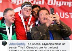 Enlace a La brillante respuesta de Schwarzenegger a un troll que se burló de los Special Olympics para disminuidos