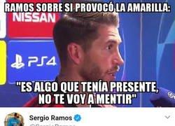 Enlace a Ramos se contó un chiste después de sincerarse