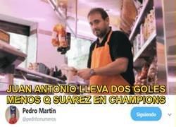 Enlace a Pésimos números de Juan Antonio el carnicero en Champions