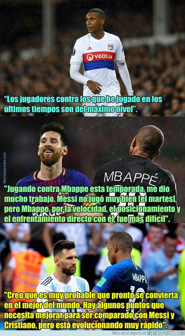 1065325 - Marcelo del Lyon compara jugar contra Messi vs jugar contra Mbappé, y hay un ganador