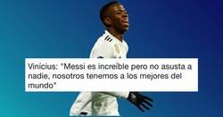 Enlace a Vinicius dice que Messi no asusta a nadie... y los comentarios a la noticia son puro oro