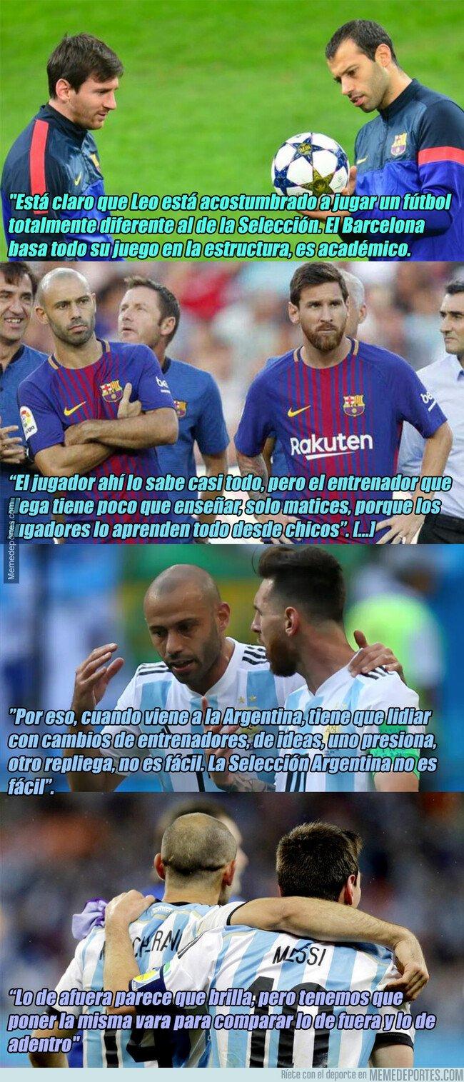 1065856 - Mascherano revela por qué Messi no triunfa con Argentina como con el Barça