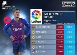 Enlace a Las tremendas bajadas de valor de los jugadores de la liga