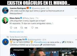 Enlace a Vaya oráculos los del Madrid