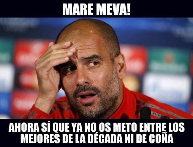 1066976 - Guardiola reaccionando a la eliminación del Madrid