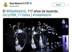 Enlace a El Madrid sube un tweet felicitándose en el día de su cumpleaños y los madridistas no estaban muy por la labor