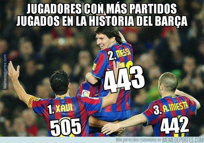 1067499 - Messi superó ante el Rayo a Iniesta como 2° jugador culé con más partidos
