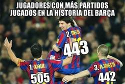 Enlace a Messi superó ante el Rayo a Iniesta como 2° jugador culé con más partidos