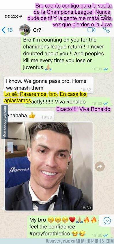 1068292 - La conversación de whatsapp entre Cristiano y Evra 5 días antes de la remontada demuestra que no hay nadie más ganador que Ronaldo