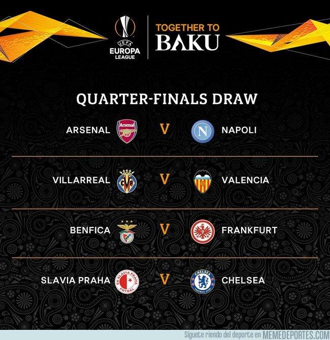 1068398 - Y así quedaron los cruces de cuartos de la UEFA Europa League