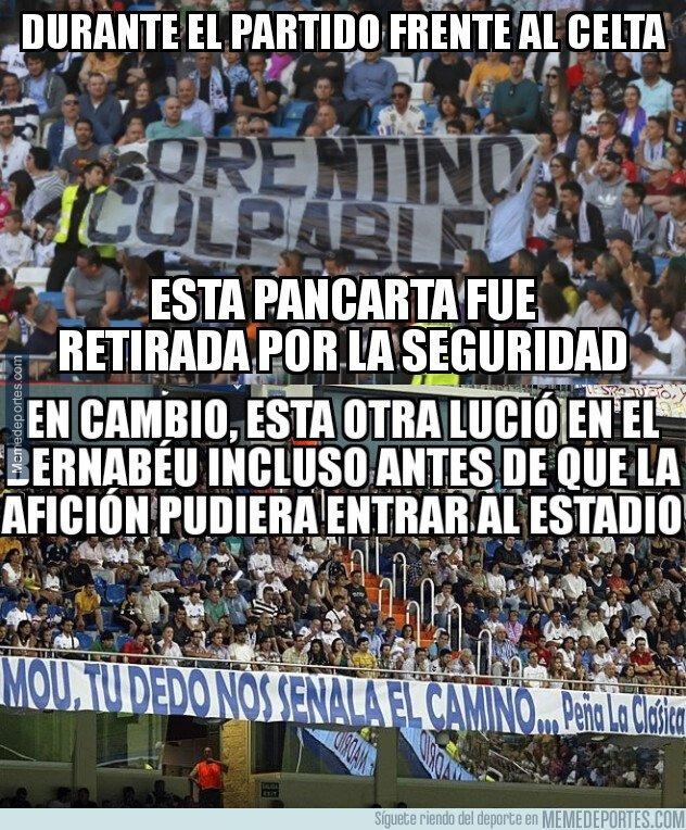 1068590 - El curioso criterio para retirar las pancartas del Bernabéu