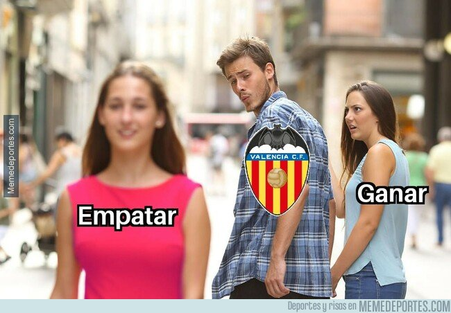 1068621 - Después del partido contra el Getafe el Valencia tiene la mitad de victorias que de empates esta liga