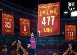 Enlace a Messi supera a Xavi como jugador del Barça con más victorias, por @brfootball
