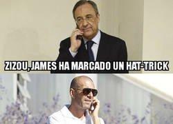 Enlace a Hasta ahí llega el interés de Zidane por James