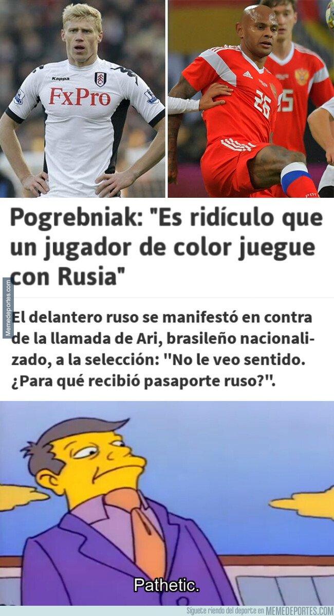 1068814 - Pogrebniak discute la presencia de Ari en la selección rusa por su color de piel