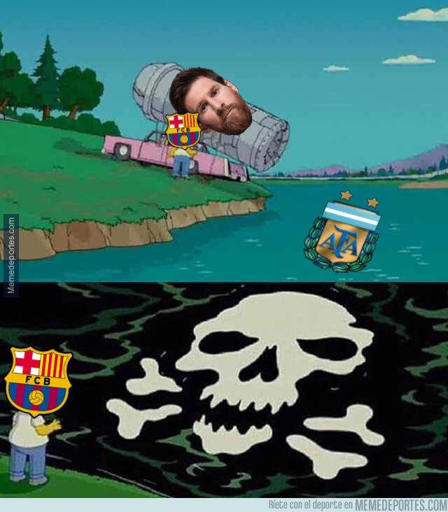 1069301 - Nunca llegan buenas noticias a Can Barça cuando Messi vuelve de la selección