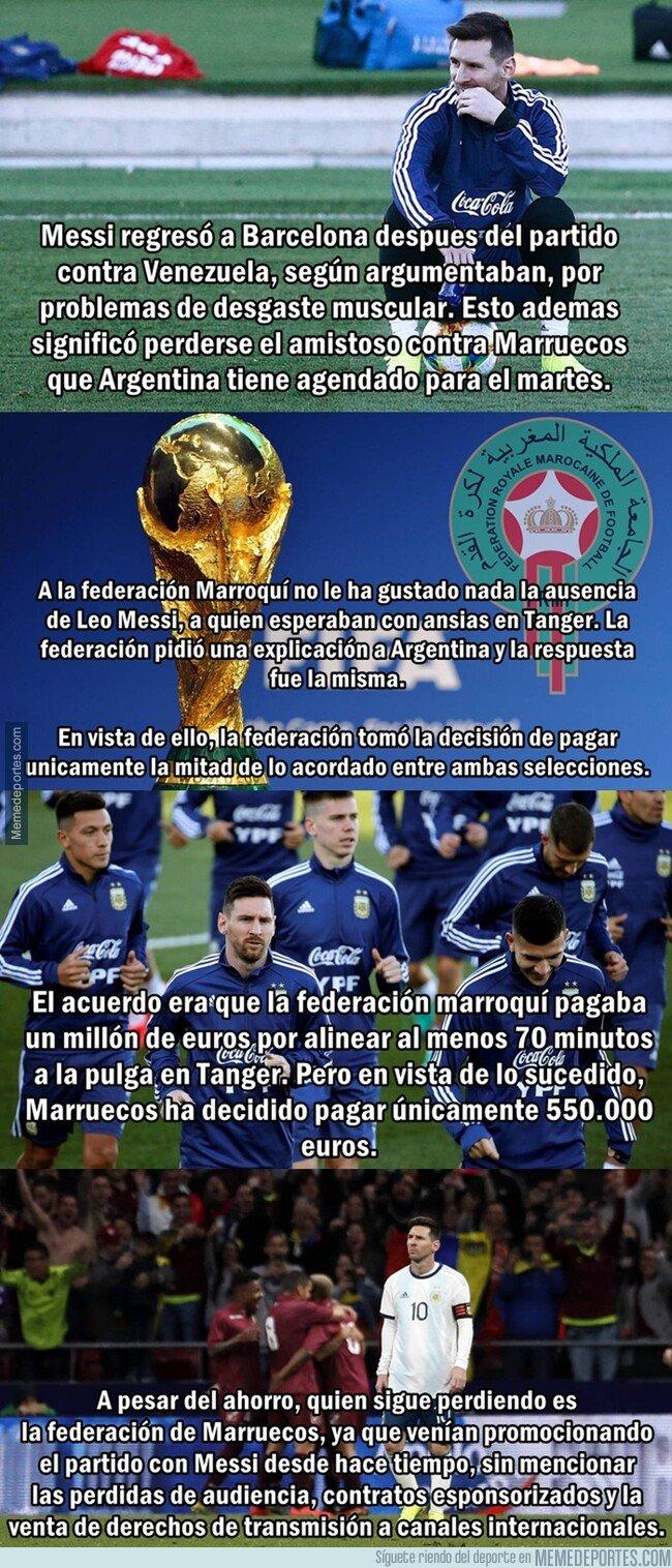 1069372 - Messi le hizo ahorrar medio millón de euros a la federación de Marruecos