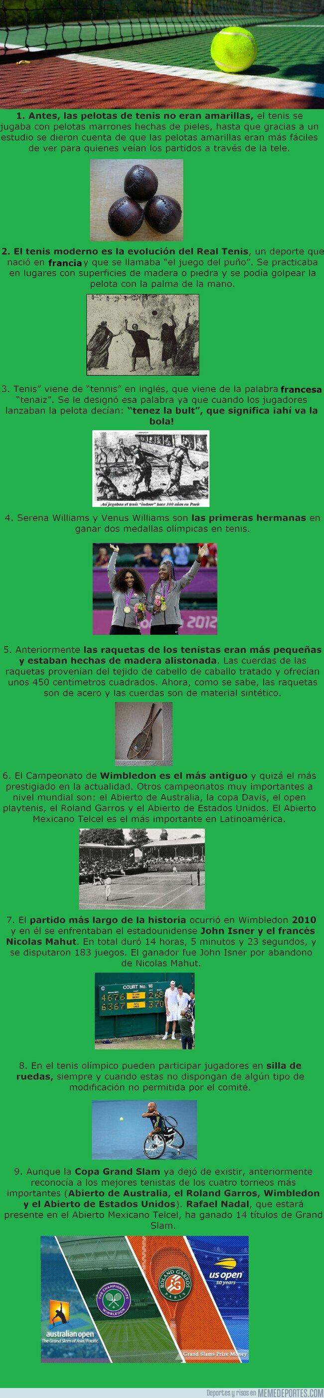 1069645 - 9 curiosidades que seguro que no sabías del tenis
