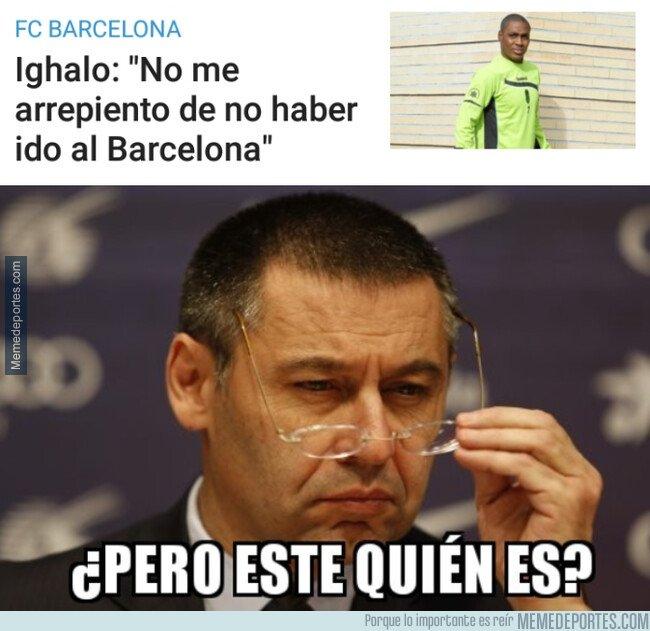 1069852 - En el Barça lloran por no haber podido disfrutar de Odion Ighalo