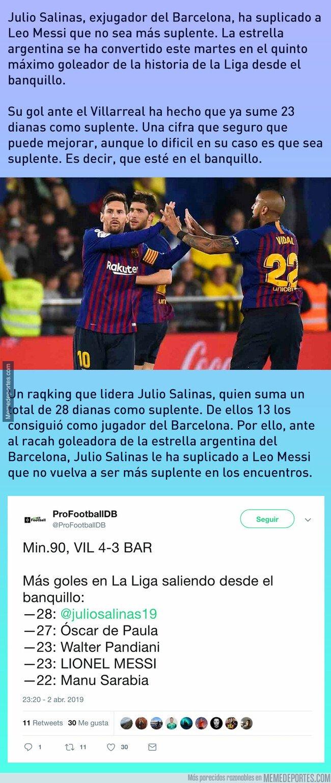 1070186 - La desesperada súplica de Julio Salinas a Messi