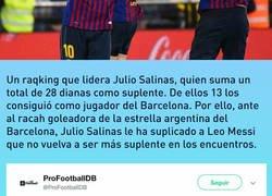 Enlace a La desesperada súplica de Julio Salinas a Messi