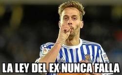 Enlace a La Real ganó, pero recibió un gol de un viejo conocido