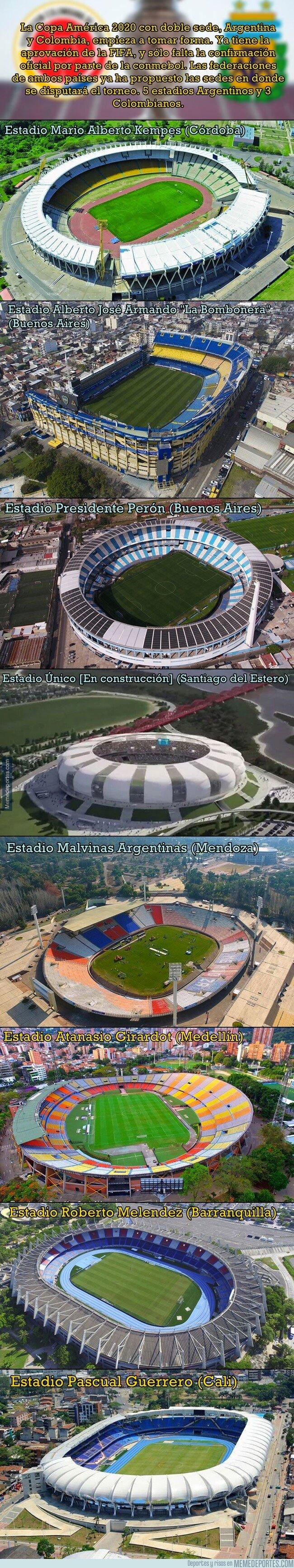 1070451 - Los estádios propuestos por Argentina y Colombia para la Copa América 2020
