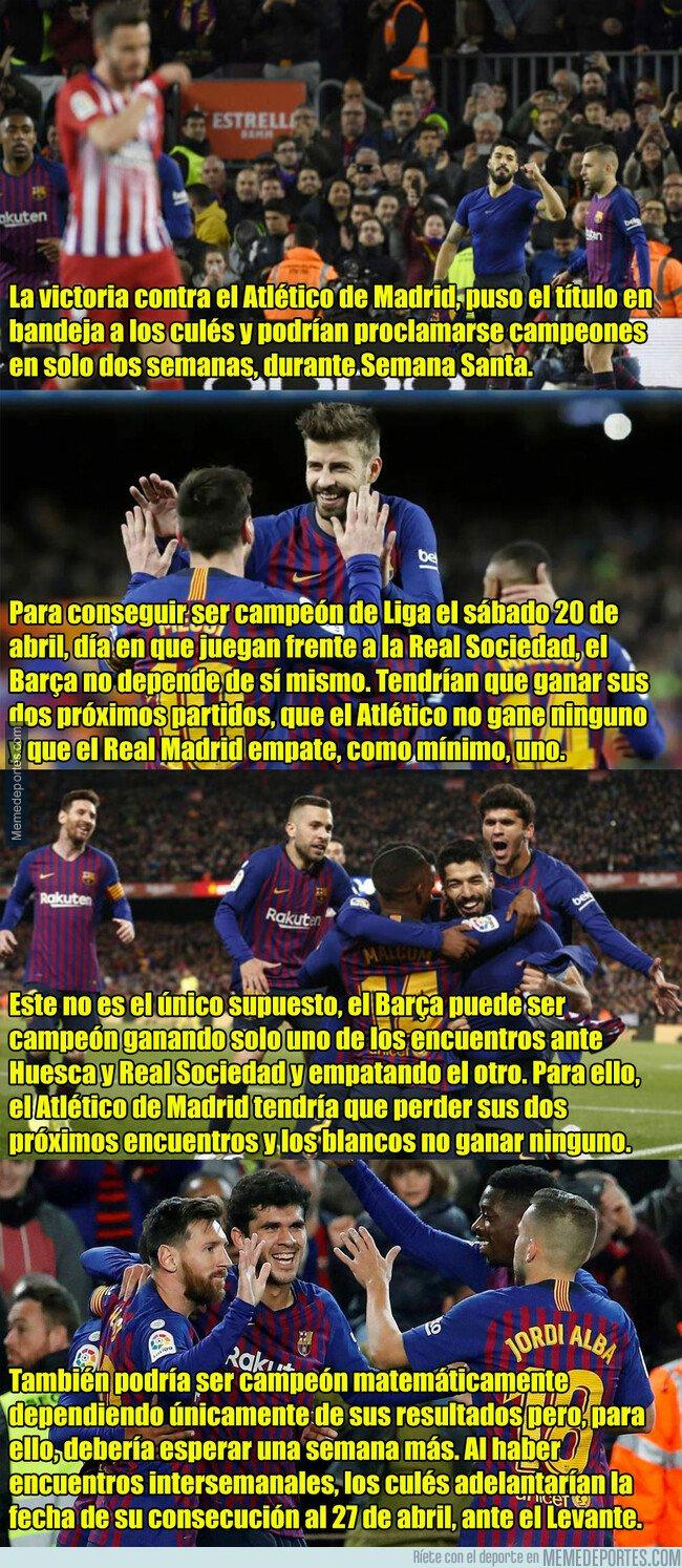 1070720 - Esto es lo que debe pasar para que el FC Barcelona sea campeón en Semana Santa