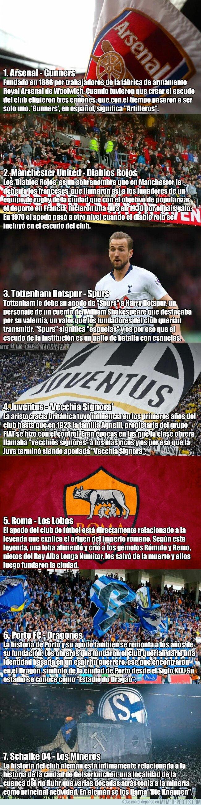 1070723 - El origen de los apodos de los grandes equipos del fútbol europeo