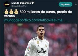 Enlace a Si Varane vale 500 millones...