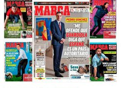 Enlace a Retratada monumental al director del Diario MARCA tras las portadas a los principales líderes políticos de España