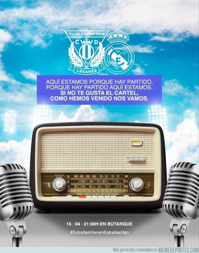 1071437 - El espectacular cartel del Leganés para el partido de hoy en homenaje a Héctor del Mar
