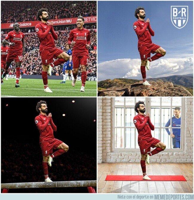 1071441 - La celebración de Salah es digna de chops, por @brfootball